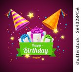 birthday card  flyer or placard ... | Shutterstock .eps vector #364328456