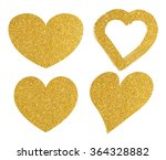 gold glitter heart shape on... | Shutterstock . vector #364328882
