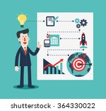 successful smiling business man ... | Shutterstock .eps vector #364330022