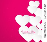 hearts in pink background | Shutterstock .eps vector #364331612