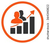 audience growth vector icon.... | Shutterstock .eps vector #364340822