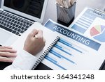 businessman analyzing... | Shutterstock . vector #364341248