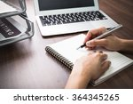 handwriting  hand writes with a ... | Shutterstock . vector #364345265