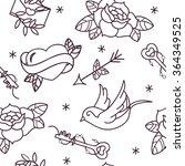 old school tattoo vector... | Shutterstock .eps vector #364349525