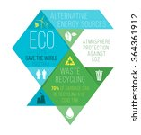 ecology infographics  charts ... | Shutterstock .eps vector #364361912