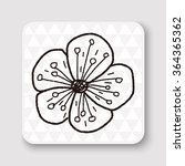 flower doodle | Shutterstock .eps vector #364365362