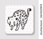 leopard doodle   Shutterstock .eps vector #364365845