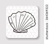 shell doodle | Shutterstock .eps vector #364369322
