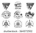 vintage airplane emblems.... | Shutterstock .eps vector #364372502