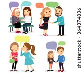 people with speech bubbles | Shutterstock . vector #364374836