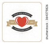 valentine's day greeting card...   Shutterstock .eps vector #364375826