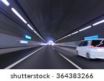 car traffic in the tunnel | Shutterstock . vector #364383266