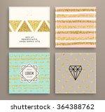 graphic design templates set... | Shutterstock .eps vector #364388762