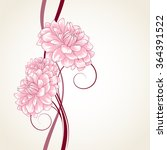 hand drawing floral background... | Shutterstock .eps vector #364391522