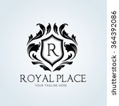 royal place luxury logo template | Shutterstock .eps vector #364392086