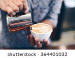 coffee latte art in coffee shop ... | Shutterstock . vector #364401032
