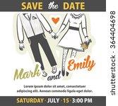 wedding invitation card...   Shutterstock .eps vector #364404698