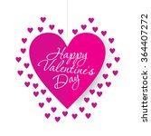 happy valentine's day concept... | Shutterstock .eps vector #364407272