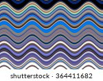 colorful wavy stripes pattern.... | Shutterstock . vector #364411682