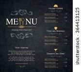 restaurant menu design. vector... | Shutterstock .eps vector #364413125