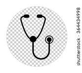 stethoscope    black vector icon | Shutterstock .eps vector #364434998