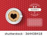 valentine's day card  flyer ... | Shutterstock .eps vector #364438418