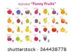 alphabet funny fruits | Shutterstock .eps vector #364438778