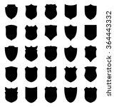 large set of black shields... | Shutterstock .eps vector #364443332