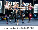fit smiling group doing... | Shutterstock . vector #364445882