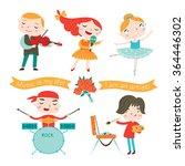 children studying arts . vector ... | Shutterstock .eps vector #364446302