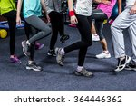 mid section of a dancer group... | Shutterstock . vector #364446362
