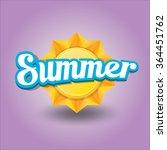 beautiful summer illustrations .... | Shutterstock .eps vector #364451762