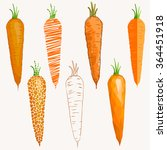 set of carrots differently... | Shutterstock .eps vector #364451918