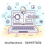 vector illustration in modern... | Shutterstock .eps vector #364457606