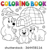 coloring book with polar theme... | Shutterstock .eps vector #364458116