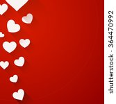 valentine red background with... | Shutterstock .eps vector #364470992