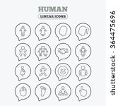 human icons. male and female... | Shutterstock .eps vector #364475696