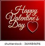 valentines day vintage... | Shutterstock .eps vector #364484696