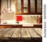 blurred background of kitchen... | Shutterstock . vector #364490585