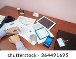 in office   businessman working ... | Shutterstock . vector #364491695