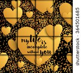 valentine card with golden... | Shutterstock .eps vector #364501685