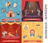 circus show 2x2 design concept...   Shutterstock .eps vector #364503395