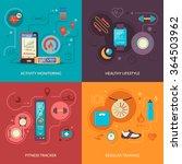 fitness tracker 2x2 design... | Shutterstock .eps vector #364503962