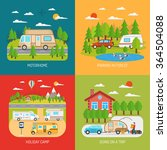 motorhome concept icons set... | Shutterstock .eps vector #364504088