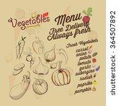 set of vintage vegetables... | Shutterstock .eps vector #364507892