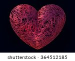 isolated heart thread  yarn | Shutterstock . vector #364512185