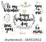 valentine s day lettering... | Shutterstock .eps vector #364513412