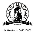 bearded man logo | Shutterstock .eps vector #364513802