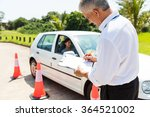 senior male driving instructor... | Shutterstock . vector #364521002