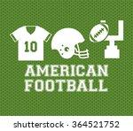 american football design  | Shutterstock .eps vector #364521752